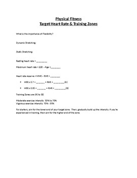 Heart Rate and Training Zone Activity
