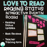 Love to Read - Reading Status Interactive Bulletin Board