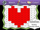 Heart Reading Number Words Practice - Watch, Think, Color Game!
