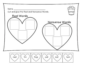 Heart Real and Nonsense Word Sort