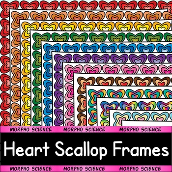 Heart Scallop Frames (Page Borders for Commercial or Perso