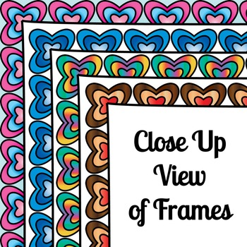 Heart Scallop Frames (Page Borders for Commercial or Personal Use)