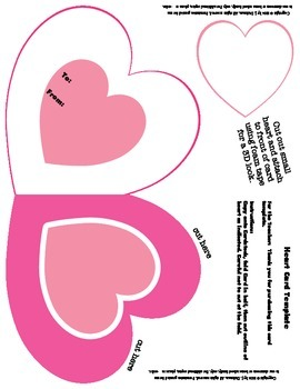 Heart Shaped Card Template