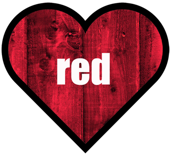 Heart Shaped Color Words