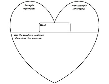 Heart-Shaped Frayer Model for Vocabulary