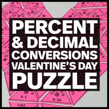 Heart Shaped Triangle Puzzle - Converting between Percenta