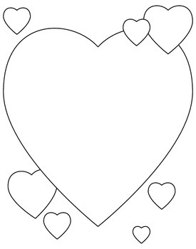 Heart-Shaped Writing And Doodling Paper For Valentine's Day - FREE!