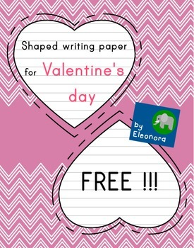 Heart-Shaped Writing And Doodling Paper For Valentine's Da