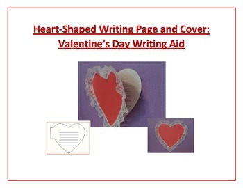 Shaped Writing Page and Cover (Heart): Valentine's Day Writing Aid