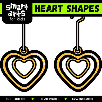 Math Heart Shapes Digital Clip Art