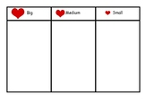 Heart Size Sorting Guide