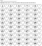 Heart Skip Counting Color and Fill in the Blank (2s-10s) [