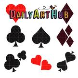 Heart Spade Diamond Clover Art Clip Art - Great for Art Class Projects!