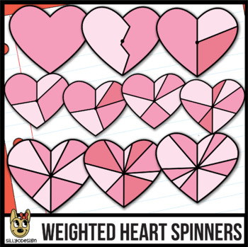 Heart Spinners Clip Art