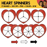 Heart Spinners Clipart