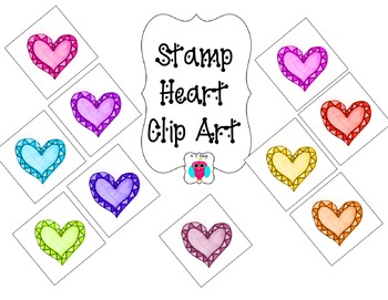 Heart Stamp Clip Art