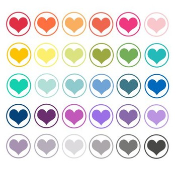 Heart Stamp Clipart, Heart, Stamp, Valentines Day Set #188