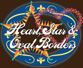 Heart, Star and Oval Borders