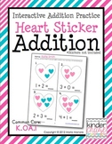 Heart Sticker Addition - Interactive Addition Practice