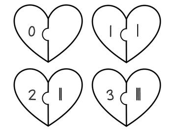 Heart Tally Puzzles 0-20 FREEBIE