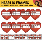 Heart Ten Frame Clipart