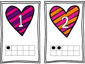Heart Ten Frames 0-20