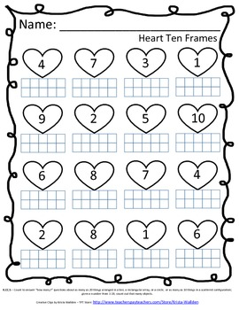 Heart Ten Frames - FREE