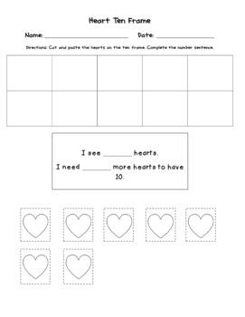 FREEBIE Heart Ten Frames with Sentences