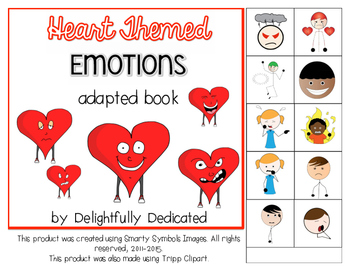 Heart Themed EMOTIONS Adapted Book