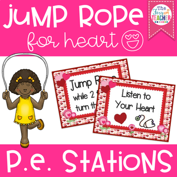 Heart Themed Jump Rope Stations