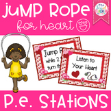 Jump Rope for Heart Themed P.E. Stations