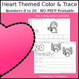 Heart Themed Number Color and Trace