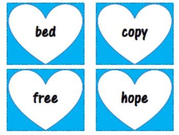 Heart Themed Sight Word Cards (501-1000 Fry list)