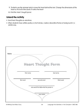 Heart-Thoughts Pattern Poem (computer project)