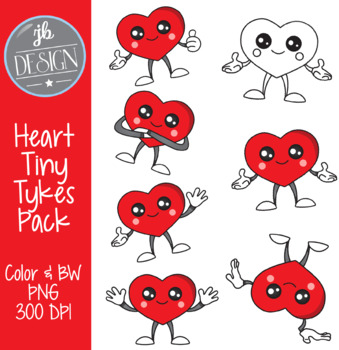 Heart Tiny Tykes (JB Design Clip Art for Personal or Commercial Use)
