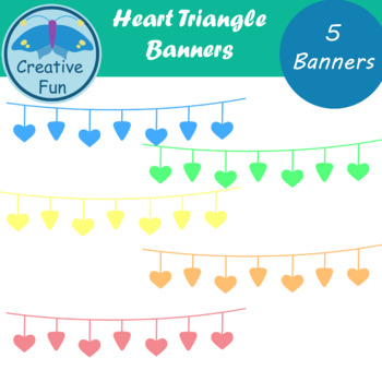 Heart Triangle Banner Clipart