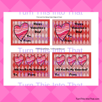 Heart Valentine Cards for Kids - Valentine Classroom Party Ideas - 8 designs