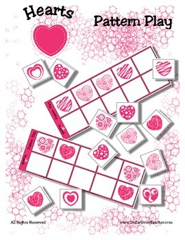 Heart / Valentine Patterning Play Game - Holiday Fun ~ Early Reading Center