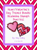 Heart/Valentine's Day Beginning Digraph Activity Bundle