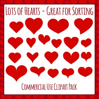 Heart Variety - Great for Sorting - Commercial Use Clipart