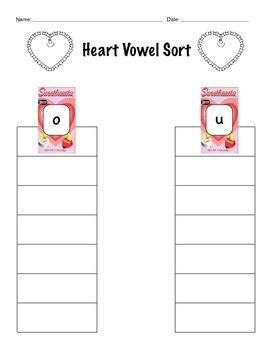 Heart Vowel Sort - Common Core