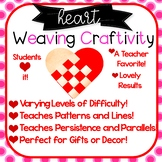 Heart Weaving Craft! 8 Patterns! Valentine's Day, Mother's Day, Math! Grades 2-6