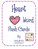 Heart Word Flash Cards: Set 1 - Kindergarten