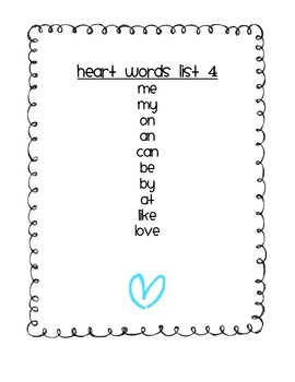 Heart Words Freebie (sneak peak)