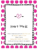 Heart Words Full Year (Dolch words/Sight words)