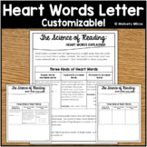 Heart Words Science of Reading Parent Family Letter