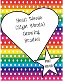 Heart Words ~ Sight Words ~ Print and Go ~Growing Bundle ~ Word Wall