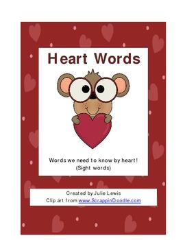 Heart Words (Sight Words for Kindergarten)