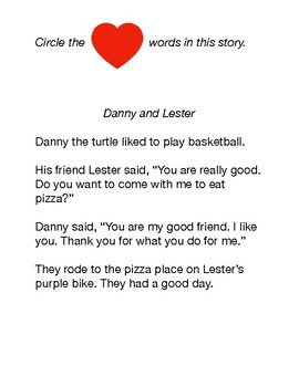 Heart Words and Turtles