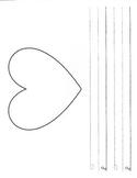 Heart Writing Paper